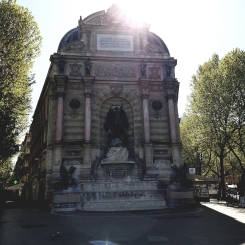 La Fontaine Saint-Michel.